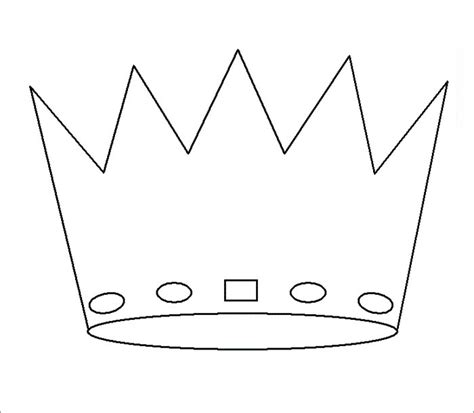 crown printable template crown template free templates free premium templates