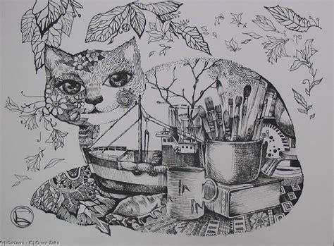 imagenes figurativas realistas a blanco y negro obra de arte gt gt oxana zaika gt gt el gato negro arriba y
