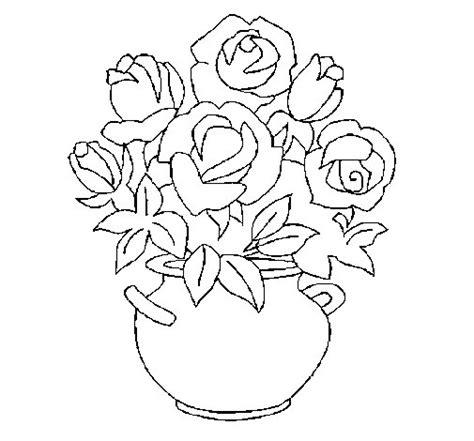 vasi di fiori da colorare disegno di vaso di fiori da colorare acolore