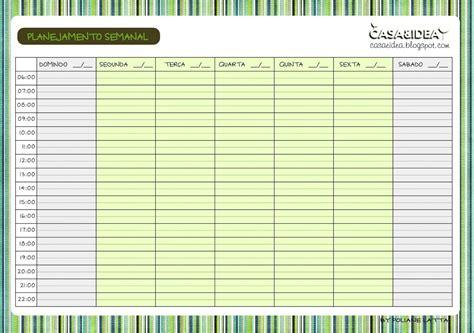 Planner Casa by Casa Idea Planejamento Semanal Para Imprimir