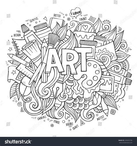 drawing vector graphics hand lettering art hand lettering doodles elements vector stock vector