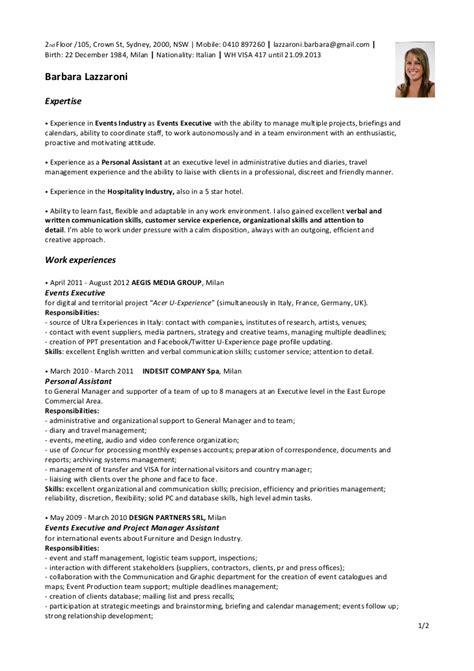 Resume Format Doc For Hotel Management resume objective for hospitality industry resume ideas