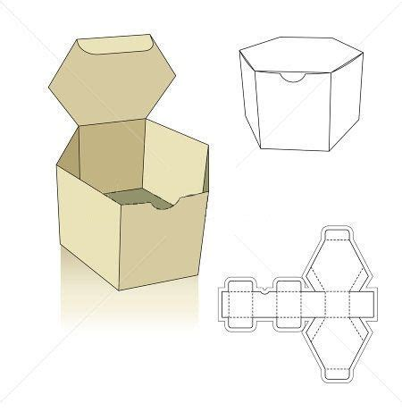 packaging template box polygon box template hledat googlem boxes ideas