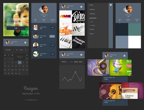 15 Free Mobile App Ui Psd Kits Graphicsfuel Ui Designer Portfolio Templates
