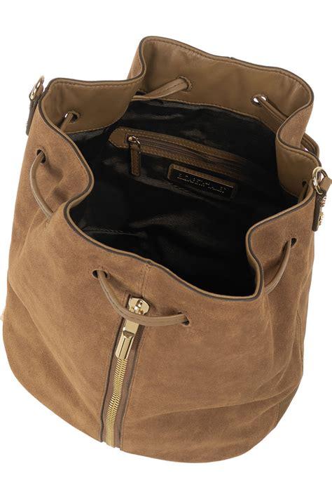 Elizabeth Bag Nangi Backpack Brown lyst elizabeth and cynnie sling suede backpack in