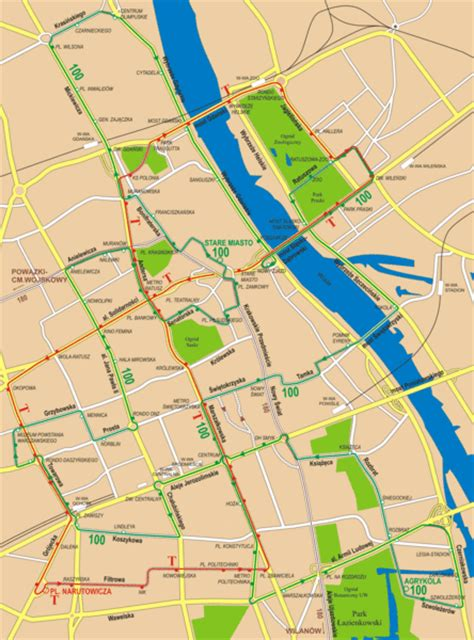 tourist map of central central warsaw tourist map warsaw mappery