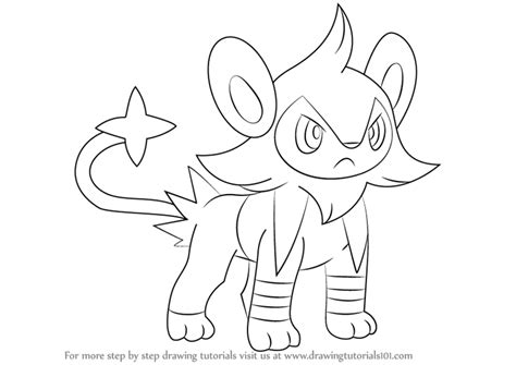 steps on how to draw doodle learn how to draw luxio from step by