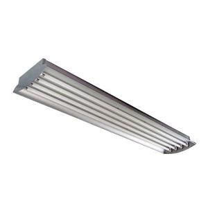 8 Ft Fluorescent Light Fixture Home Depot Homeselects 4 Ft 4 L 32 Watt Each T8 Aluminum Fluorescent High Bay Light Fixture 6280 The
