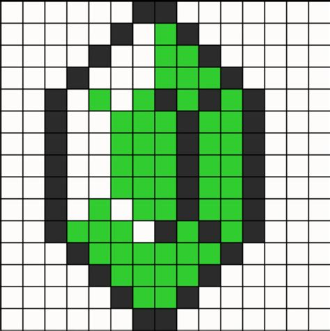 zelda rupee pattern zelda perler bead pattern natalie needs to see this