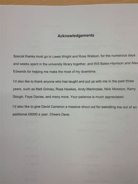 thesis acknowledgement funny acknowledgements of dissertation