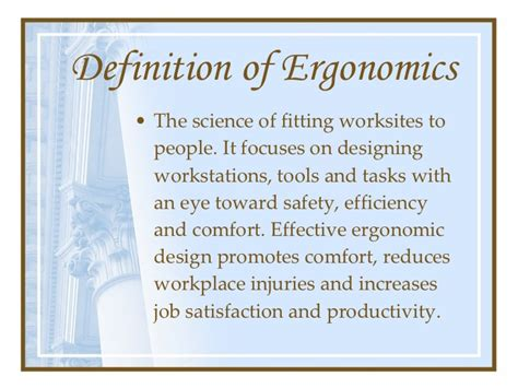 greek word for comfort ergonomics presentation
