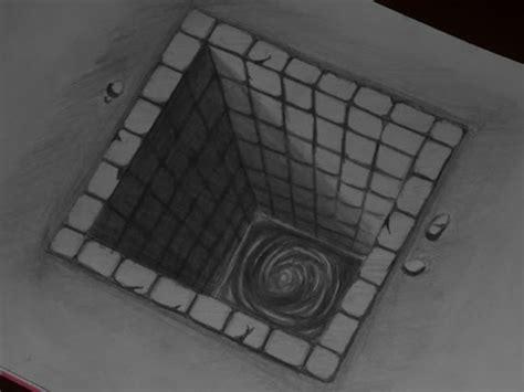 tutorial menggambar tiga dimensi contoh sketsa gambar 3 dimensi pensil yang mudah 28