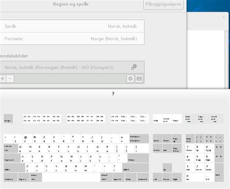 keyboard layout virtualbox in fedora how do i select a proper norwegian keyboard