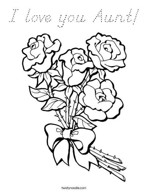 I Love You Aunt Coloring Pages | i love you aunt coloring page d nealian twisty noodle