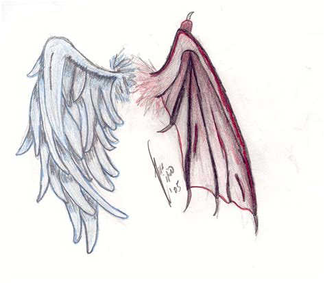 pictures of angel wings tattoo designs me on compass compass and demons