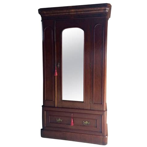 single armoire wardrobe antique wardrobe armoire single walnut mirror fronted