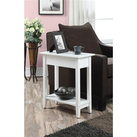 american flip top desk convenience concepts american heritage white flip top end