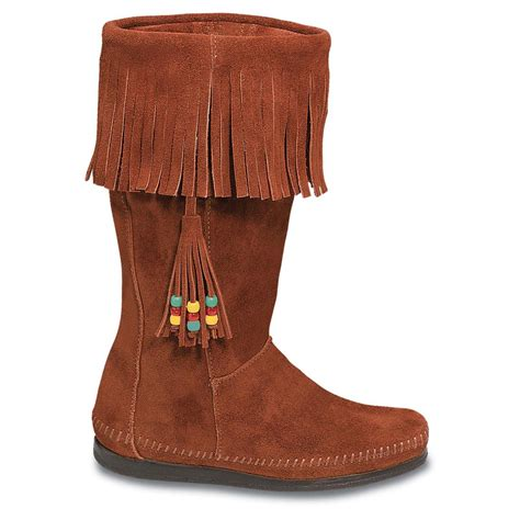 moccasins boots for minnetonka womens calf hi 3 in 1 moccasin boots womens