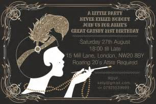 the great gatsby invitation template 10 x great gatsby personalised birthday invitations