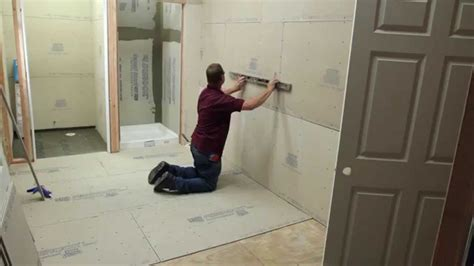 bathroom remodeling using usg s underlayment and backerboard youtube
