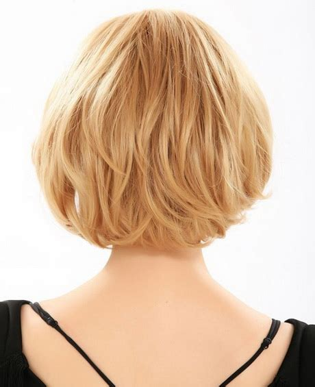 front and back views of chopped hair hairstyles back view