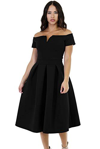 swing midi dress lalagen women s vintage 1950s party cocktail wedding swing