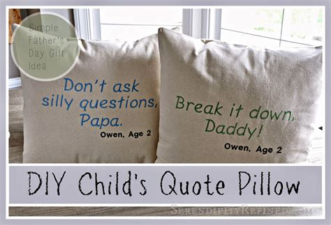 s day gift quotes serendipity refined simple diy s day gift child s quote pillow