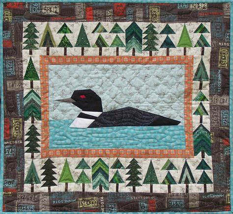 northwoods loon quilt pattern