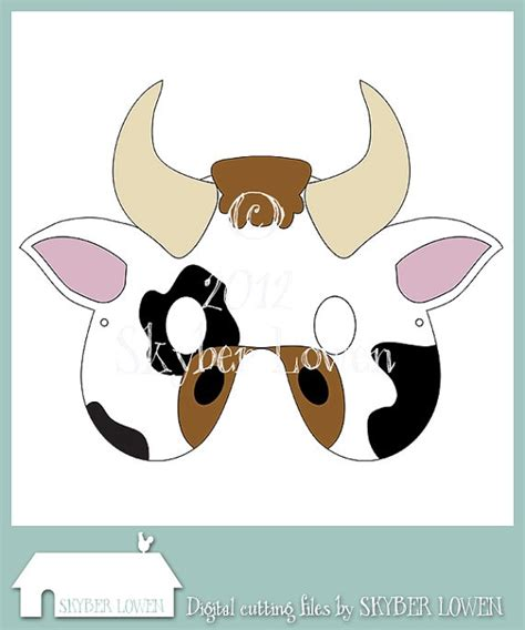 cow mask template 11 best images about animal masks on animal