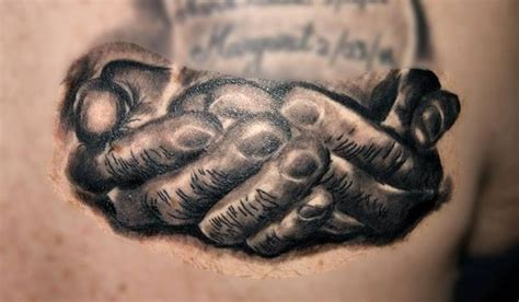 in gods hands tattoo in gods black and grey tattoos last sparrow