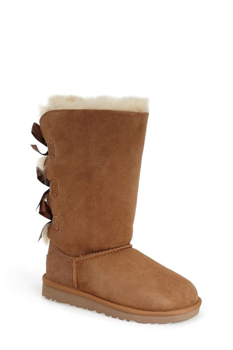 ugg kids classic tall little kidbig kid zapposcom ugg genuine sheepskin bailey bow tall classic boot