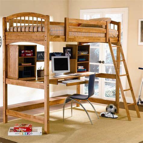desain meja belajar dan rak buku tempat tidur anak desain minimalis dengan meja belajar
