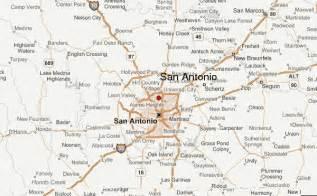 map of san antonio and surrounding cities san antonio location guide