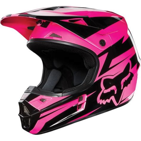 pink motocross helmet fox racing costa v1 motocross road dirt bike