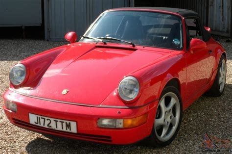 porsche dark red porsche 911 carrera 4 964 convertible 1992 bright red
