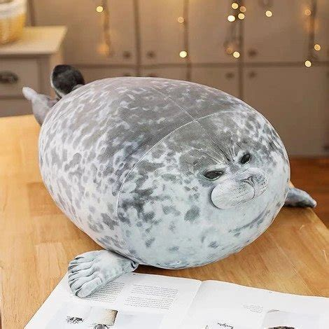 fluffy plush seal pillow buy    wizzgoo store