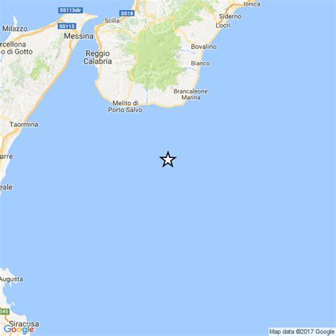ultime notizie melito di porto salvo calabria debole scossa di terremoto a largo di melito