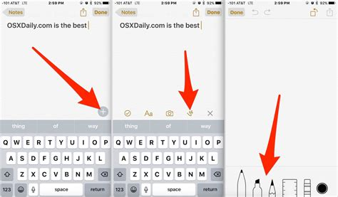 Note 9 Drawing App by How To Use The Drawing Tools In Notes For Ios