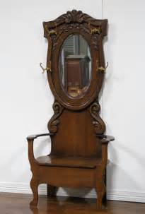 Entry Bench With Mirror 15 Appealing Antique Hall Tree With Mirror Ideas Photo