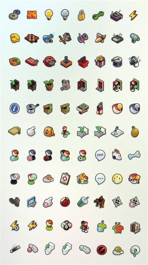design ui icon smallworlds context menus by jared macpherson via behance