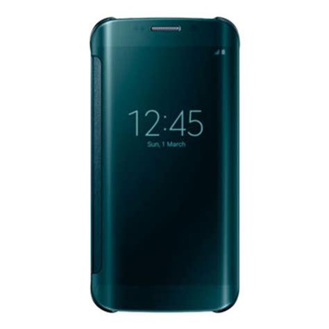 Official Samsung Galaxy S6 Edge Protective Cover Mint official samsung galaxy s6 edge clear view cover green