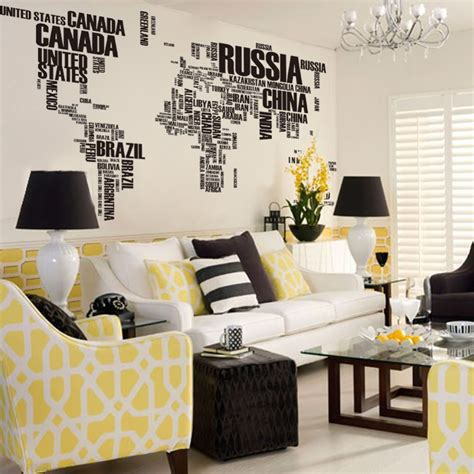 world home decor wholesale new design xxl190 116 cm english words map cool