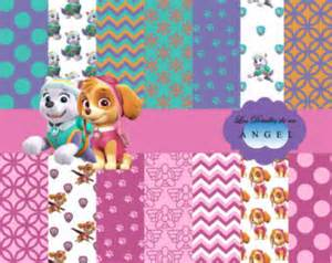 The canine patrol kit kit digital papers skye and everest paw patrol 3