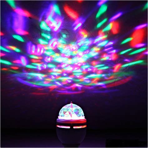 rotating led disco light rotating led strobe bulb multi color changing disco