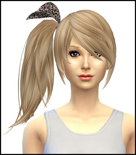 side ponytail sims 3 sims 4 hairs simista kijiko side ponytail hairstyle