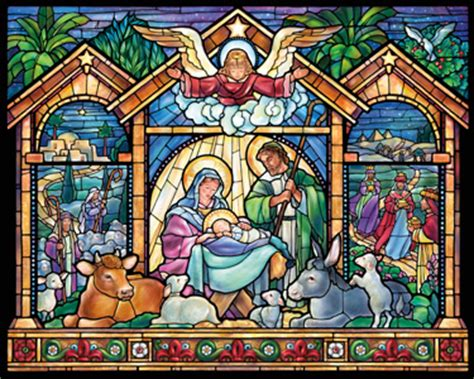 christian jigsaw puzzles for kids printable stained glass nativity jigsaw puzzle puzzlewarehouse com