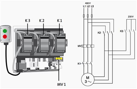 line diagram for delta motor starter motor