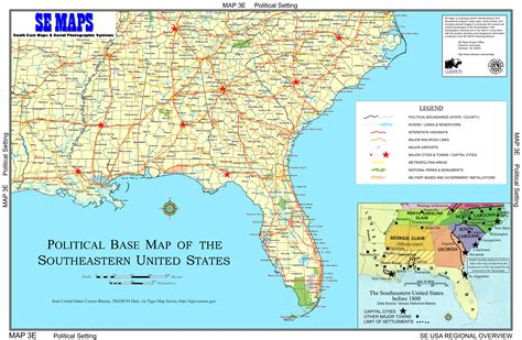 map of southeast usa southeast us map with cities cdoovision