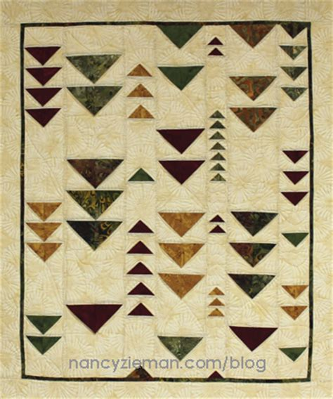 Flying Geese Quilt Pattern History by Nancy Zieman S Quilting Simplified Folded Flying