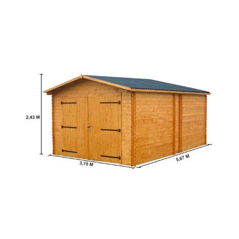 Garage En Bois En Kit 330 by Garage Bois Quot Premier Quot Un Garage Madrier 224 Petit Prix 28
